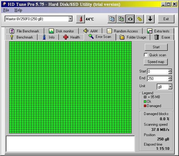 Scan complet DD SATA Maxtor 250 Gb 05-2020.jpg