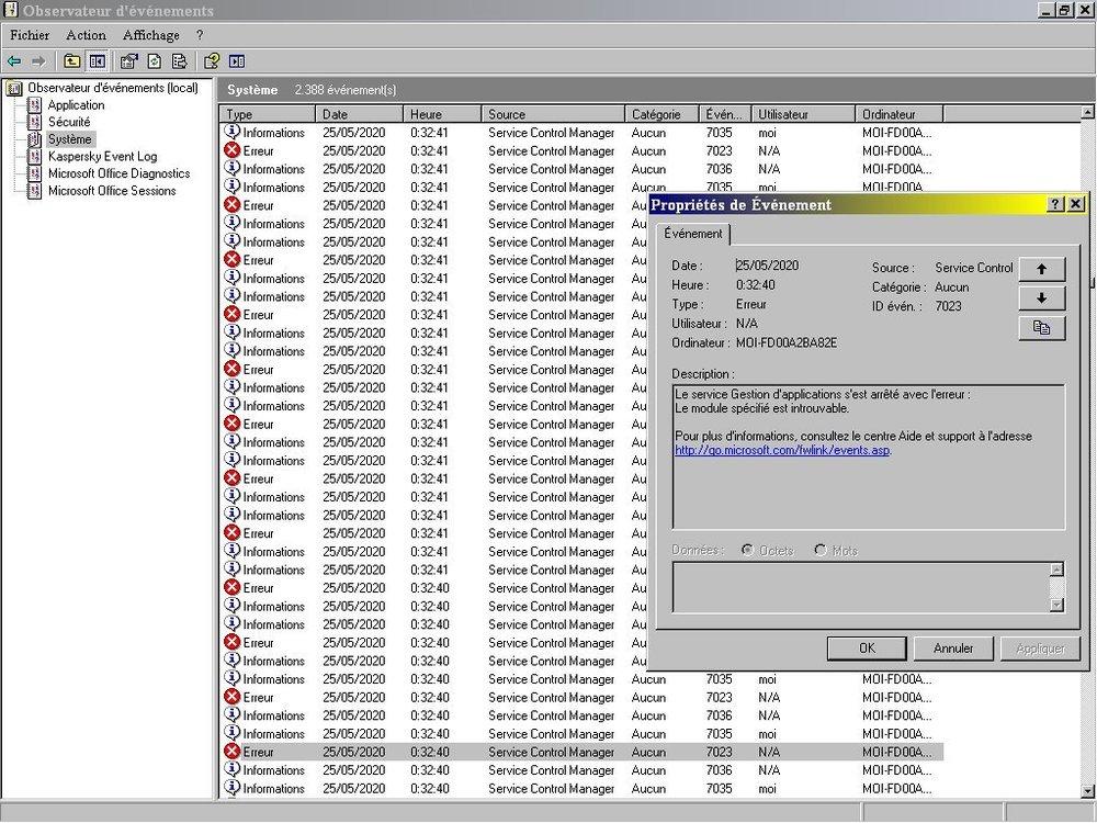 Observateur événements Système sous Maxtor IDE.jpg